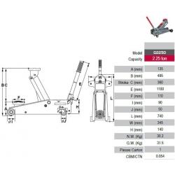 Pro-Lift G2250 Hydraulischer