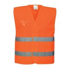 Ανακλαστικό γιλέκο διάτρητο C494 πορτοκαλί